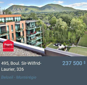 Luxueux condo à Beloeil avec vue sur la montagne.