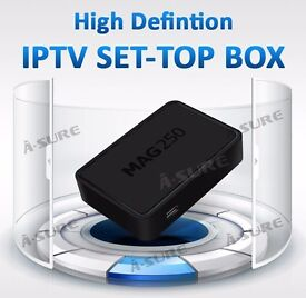 **MISSING HD ?** MAG IPTV HD BOX -NO DISH NEEDED + 12 MTHS SERVICE - SMART TV/MAG/VLC/OPENBOX