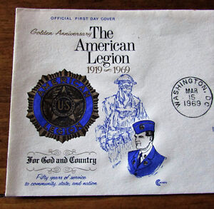 1969 American Legion 50th Anniversary 6 Cent First Day Cover Kitchener / Waterloo Kitchener Area image 3