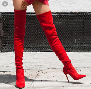 Red Thigh High Boots- Steve Madden - Dominique size 7