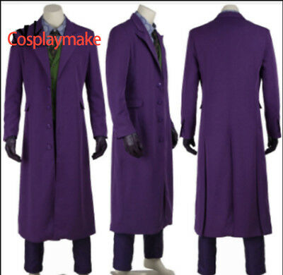 The Dark Knight Joker Heath Ledger Halloween Cosplay Costume Full Set All Size](Heath Ledger Joker Costume Halloween)