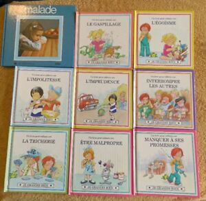 Lot of Kids FRENCH Books, Movies & Music CD's for sale