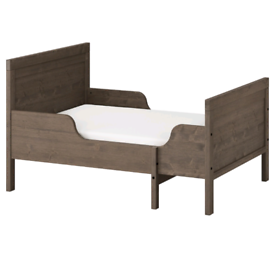 Brown-grey IKEAchildrens bed (SUNDVIK) with mattress *COLLECTION ONLY