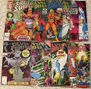Marvel Silver Surfer Infinity Gauntlet Thanos Warlock comic lot