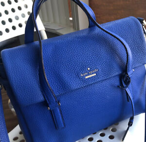 Authentic Kate Spade NY Blue Leather Bag (VERY GOOD condition)