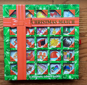 CHRISTMAS MATCH magnetic advent book. Excellent condition