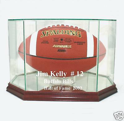 (Jim Kelly Buffalo Bills F/S Football Display Case UV)