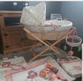 Prickles and twoo moses basket set