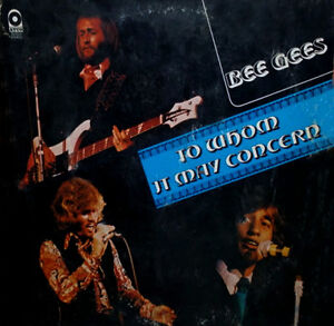 BEE GEES Vinyl Album 1972 To Whom It May Concern