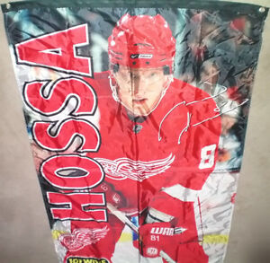 Detroit Red Wings Hossa Flag Banner and CCM Cap Set London Ontario image 3