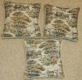 3 scatter cushions