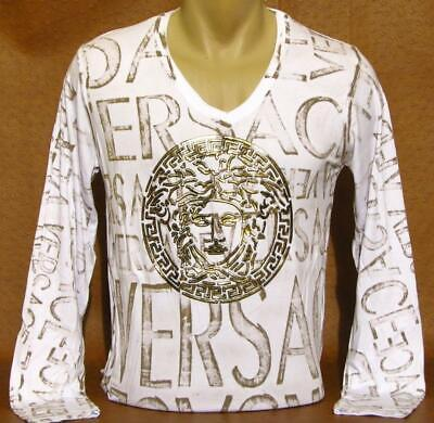 Brand New With Tags Men's VERSACE Long Sleeve T-SHIRT
