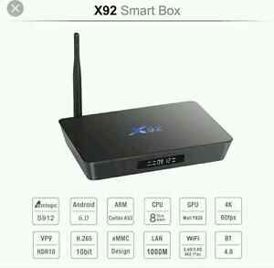 New Model X92 Android 6.0 TV Box, Call or Text 226-240-0609