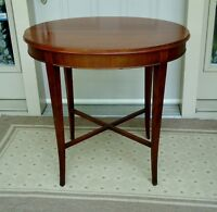 OVAL ANTIQUE SIDE OCCASIONAL ACCENT TABLE