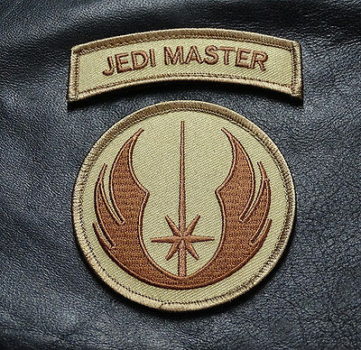JEDI ORDER LOGO JEDI MASTER TAB 2PC SET TACTICAL ACU MORALE HOOK PATCH