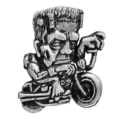 Frankies Sled  JACKET VEST PEWTER Frankenstein's   BIKER PIN   - Frankenstein Jacket