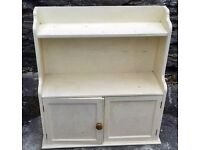 Vintage cream painted wall cabinet or freestanding solid & heavy £30 ONO