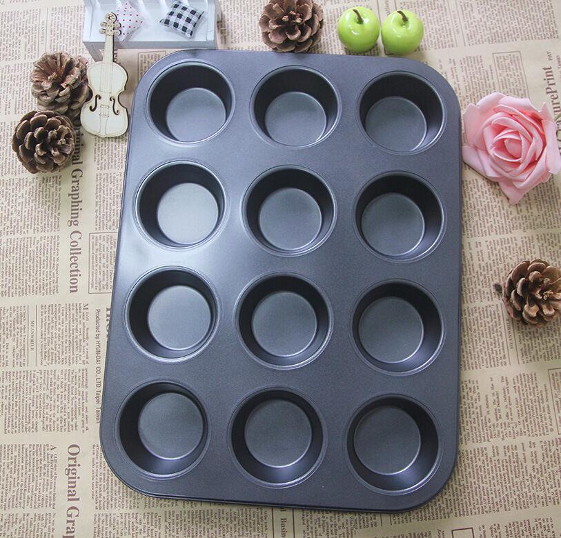 Stampo Teglia Vassoio Antiaderente 12 Muffin Cupcake Dolci Budino dfh