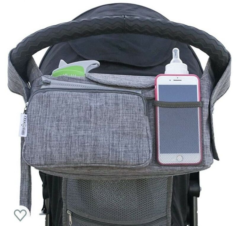 Stroller Organizer Bag by Subtle Baby - Has insulated bottle holders