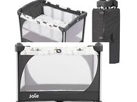 Joie Commuter Travel Cot with CustomClick