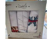 Set Of 3 Baby Muslin Blankets