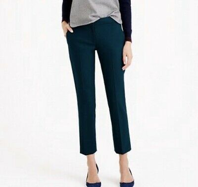 J. CREW Campbell Straight Ankle Turquoise Women's Pants Wool Blend Size 0