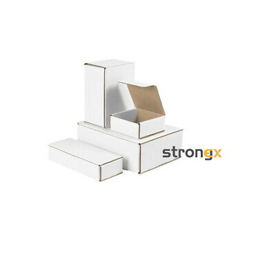 White Corrugated Mailers 10pcs Deal Various Sizes Shipping Packing Boxes
