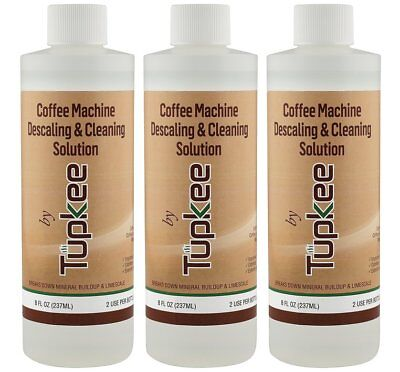 Tupkee Coffee Descaler & Cleaning Solution For Keurig & Drip Coffee Maker 3 Pack