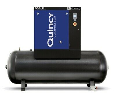 2021 Quincy Qgs-15 Rotary Screw Air Compressor 15 Hp With 120 Gallon Tank