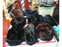 1960s 70s hats and two scarves in good condition