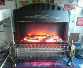 Log effect electric fire in working order