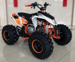 "FREE SHIPPING NEW Venom Madix PREMIUM 125cc Gas Quad ATV - Front/Rear Disc + Big 8"" Tires + Reverse + 6-Months Warranty"
