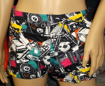 Harley-Davidson Women's Boy Short bathing suit bottom swim 99117-95VW (Women's Swim Short Bathing Suits)