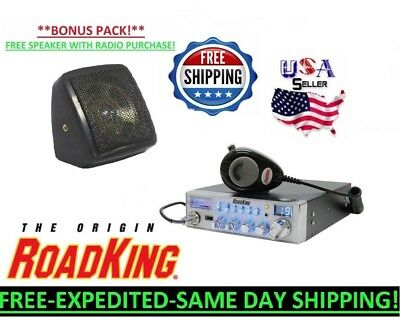 ROADKING CB RADIO FULL SIZE RK56 MICROPHONE USB SWR PA HAM TUNED + FREE SPEAKER