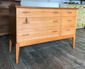 Mid Century Retro Chest Of Drawers by Maple - Vintage
