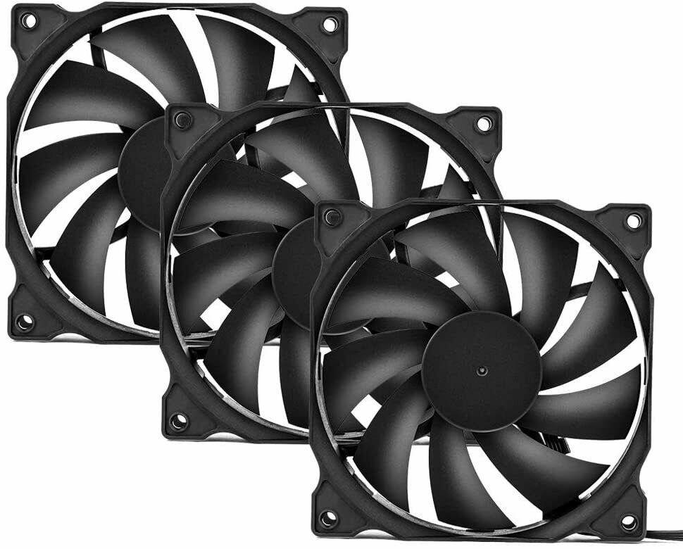 Uphere 3-Pack Long Life Computer Case Fan 120mm Cooling Case Fan For Computer Ca - $13.99