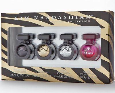 Kim Kardashian Signature   Gold Love Glam Women Perfume Collection 4Pc Set