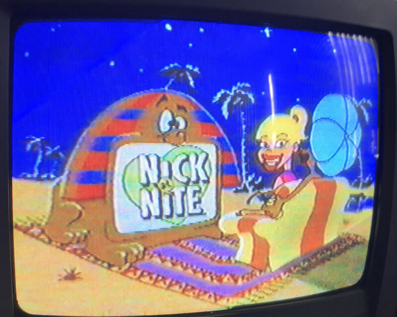 Nick At Nite VHS Sold As Blank 1992 Commercials Nickelodeon Prerecorded TV Shows