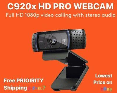 *SHIPS TODAY* Logitech C920x Pro Standard w/ Xsplit HD Webcam Video WORLDWIDE