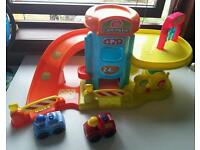 Large Garage car park playset with cars and other vehicles