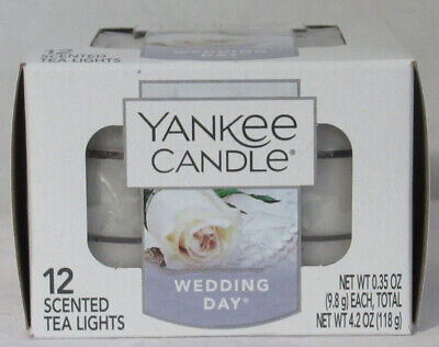 Yankee Candle 12 Scented Tea Light T/L Box Candles WEDDING DAY