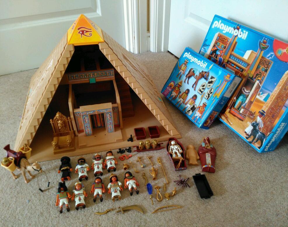 Playmobil egyptian pyramid large bundle including - Playmobil egyptien ...