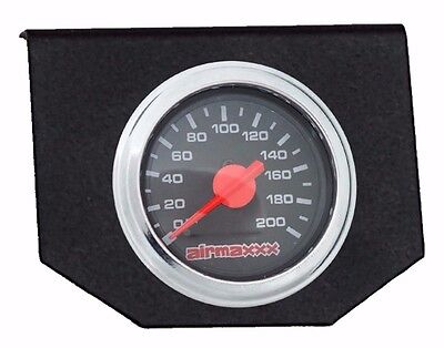 Dual Needle - Air Bag Suspension Dual Needle Air Gauge Single Panel Display 200psi No Switch