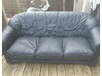 Leather sofa set for free.