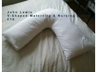 John Lewis V-Shaped Maternity and Nursing Pillow