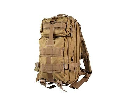Coyote brown 2289 Rothco medium tactical expandable transport backpack new