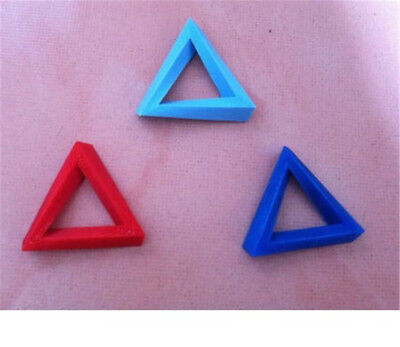 1pc Twist type Penrose triangle visual illusion Model,3D Print,Randon Color #W0s