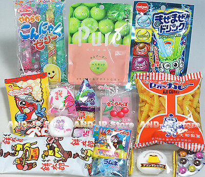 Japanese Candy Snack Assorted 20 pieces Ramune Gummy Mochi Variety set