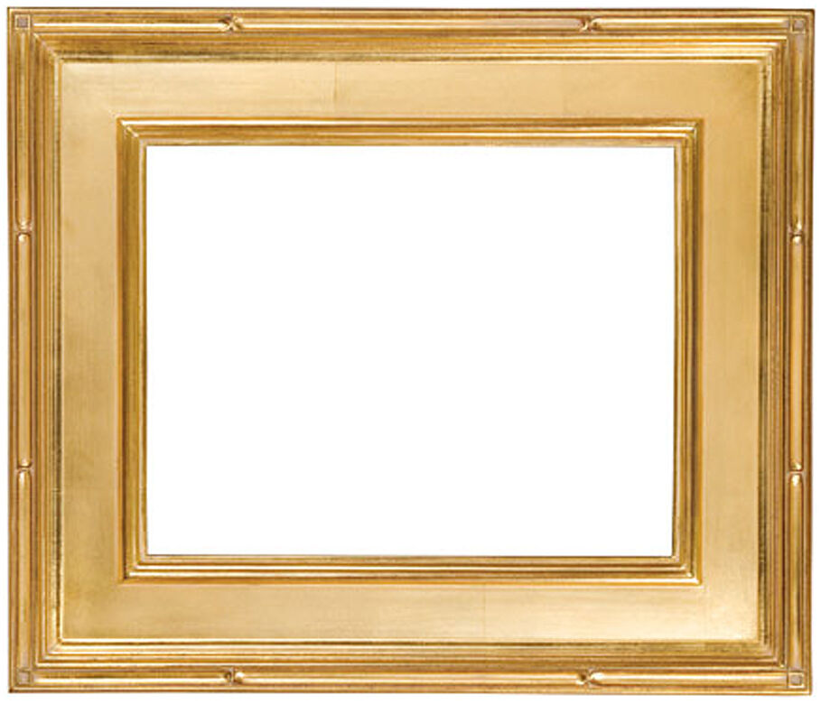 12 x 16 Black with Red Rub Finish /& HandApplied Gold Leaf  Picture Frame