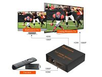 HDMI Splitter - TV PS4 Xbox PC Sky & More - Full HD - Supports 4K & 3D